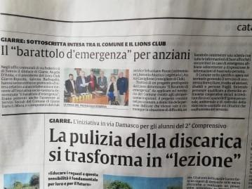 """Il """"barattolo"""" pubblicato su La Sicilia"""