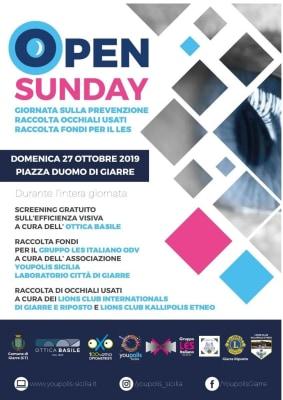 """DOMENICA 27 IL LIONS ALL'""""OPEN SUNDAY"""" IN PIAZZA DUOMO A GIARRE"""