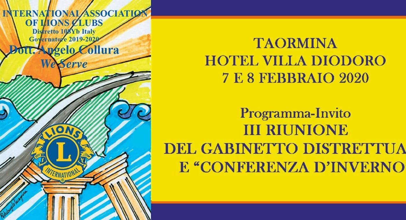 Il 7 e l'8 Febbraio a Taormina Conferenza d'Inverno